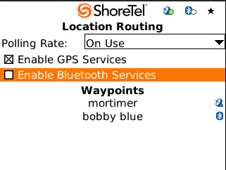 Configuring Settings ShoreTel Communicator for Mobile Step 6 Step 7 In the Device Found box, select the device name that you want to use for this waypoint or use the fictitious device name that you