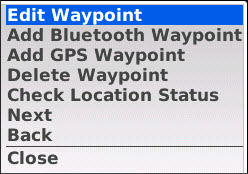.. and a green progress bar is displayed. If pairing or the connection fails, an error message is displayed. You can edit parameters for a waypoint as follows: Navigate to the Location Routing page.