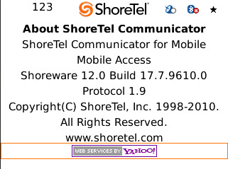 Configuring Settings ShoreTel Communicator for Mobile Step 4 Press the Return key on your device or navigate to the next page.