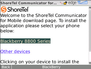 Installing ShoreTel Communicator for Mobile ShoreTel Communicator for Mobile Completing the Download and Setup Process To install ShoreTel Communicator for Mobile application on your mobile device,