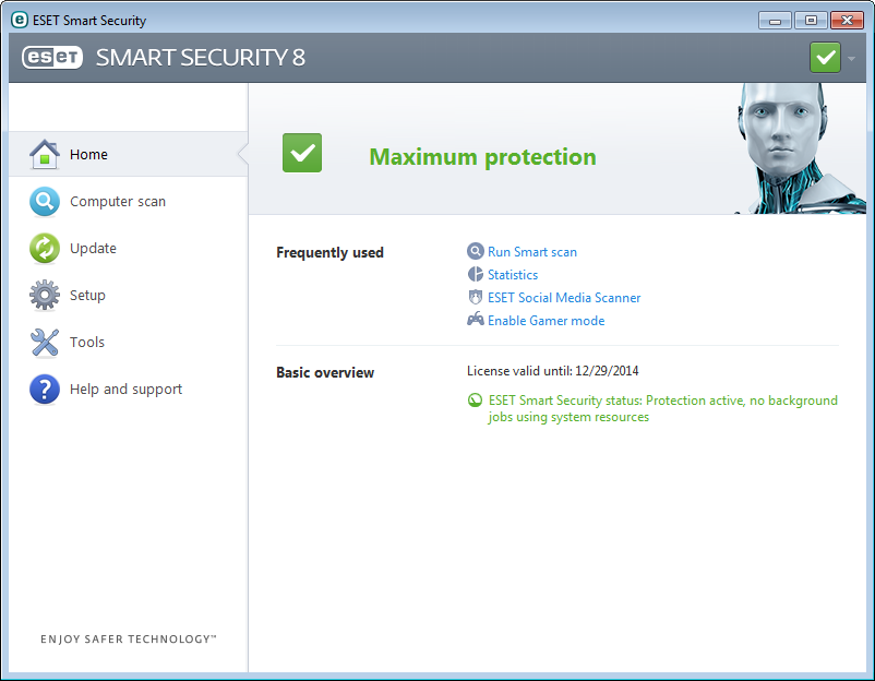 3. Beginner's guide This chapter provides an initial overview of ESET Smart Security and its basic settings. 3.