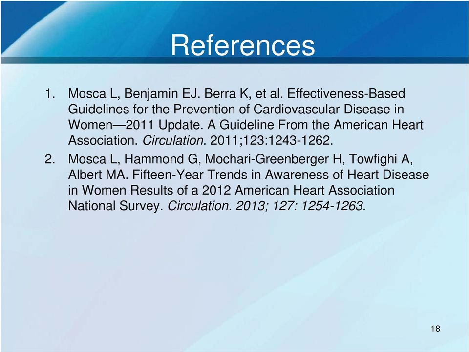 A Guideline From the American Heart Association. Circulation. 20
