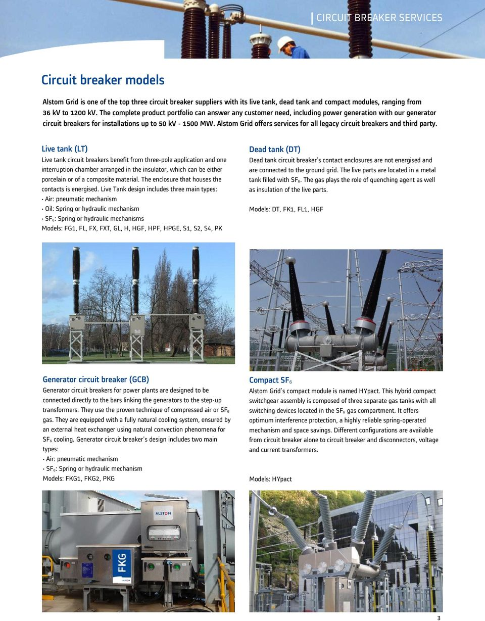 Alstom Grid Services Circuit Breaker Lifecycle Management