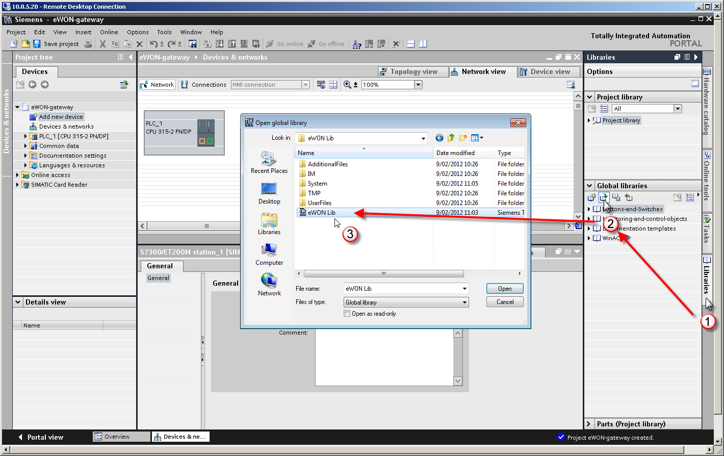 7. PLC software mapping configuration 4.