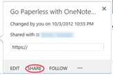 6 Save and share files in the cloud by using OneDrive for Business Sharing files on OneDrive for Business After you create or upload a file, you may want to share it.