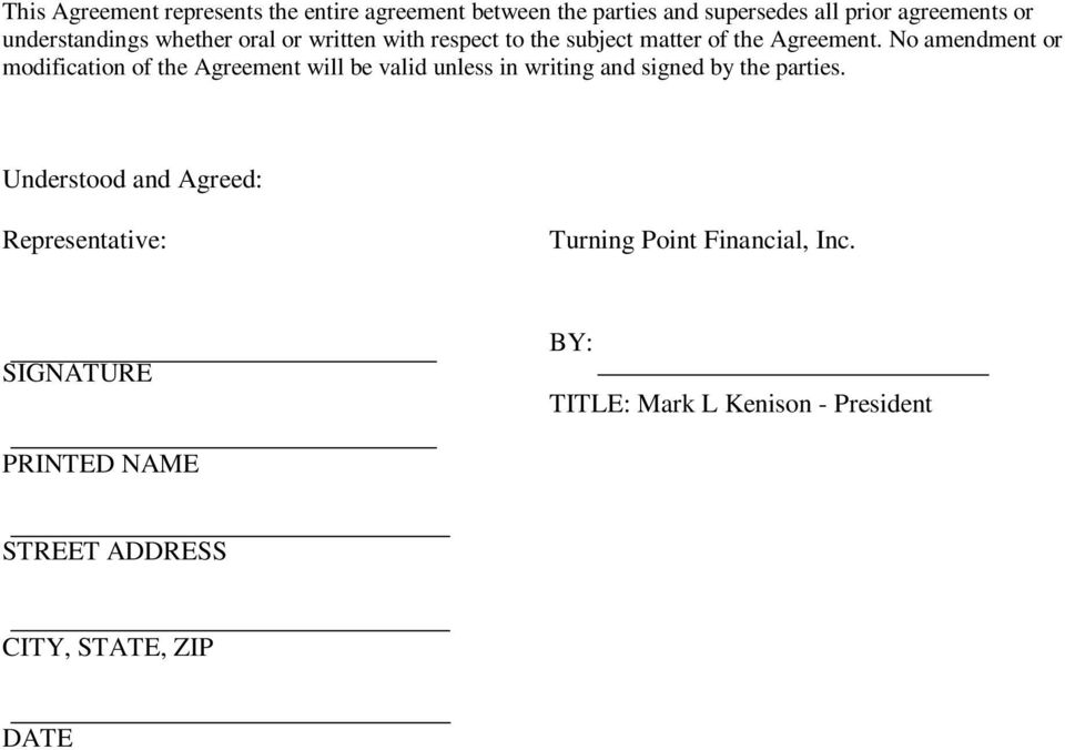 Investment Advisor Representative Agreement Pdf