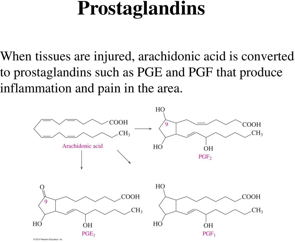 to prostaglandins such as PGE and PGF
