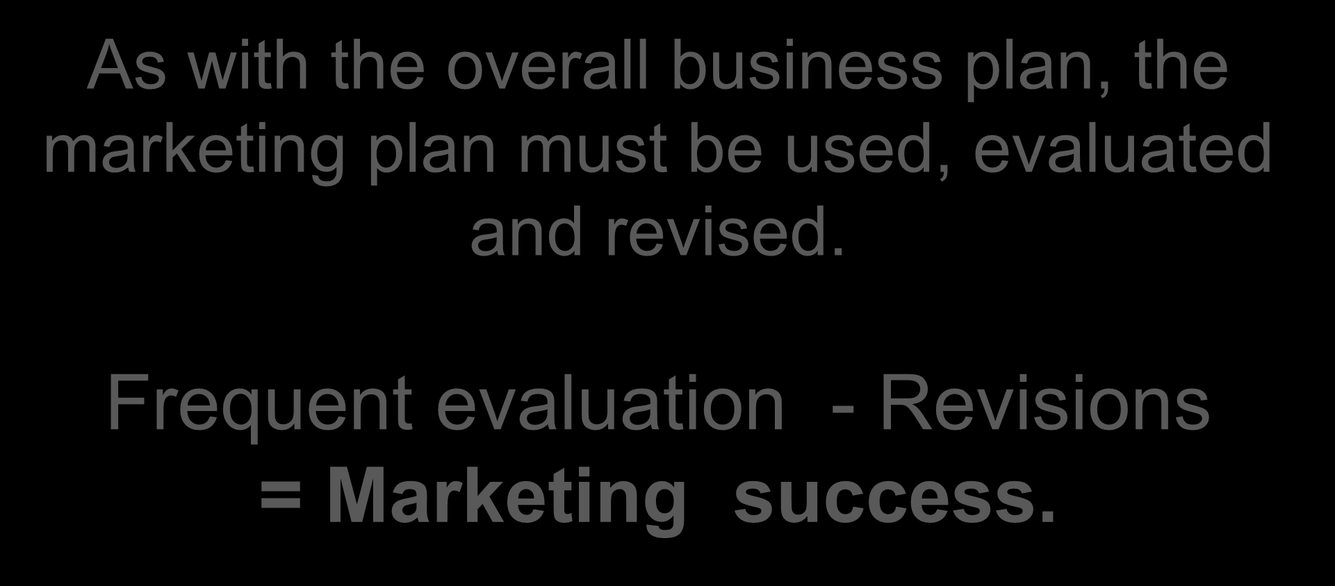 Summary - Marketing Plan Outline As with the overall business plan, the marketing plan