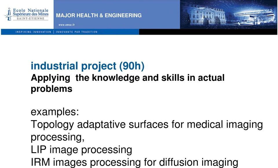 examples: Topology adaptative surfaces for medical imaging