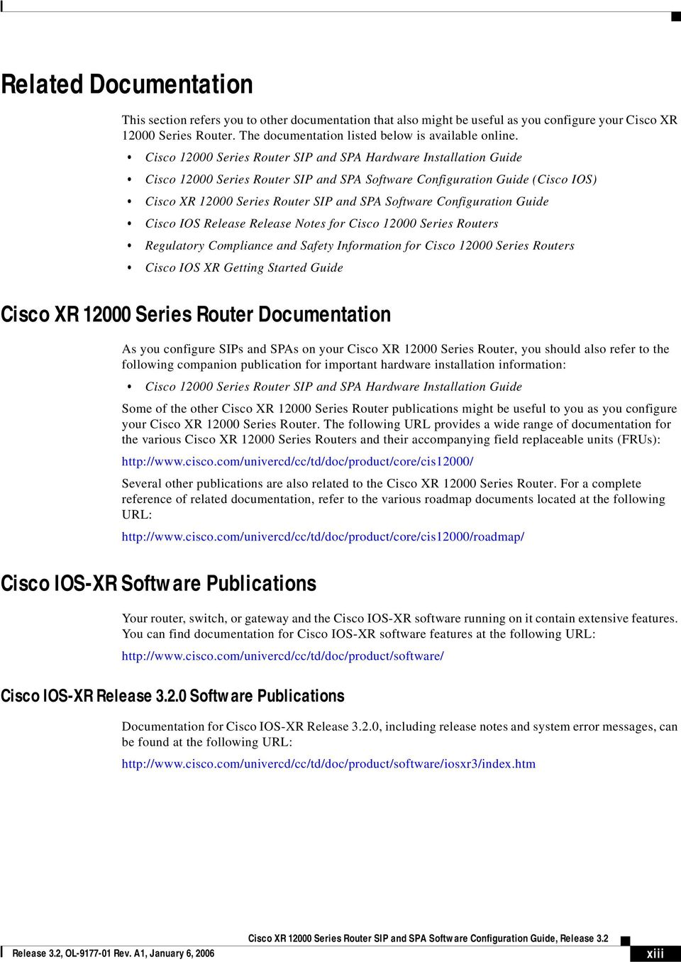 Cisco XR Series Router SIP and SPA Software Configuration