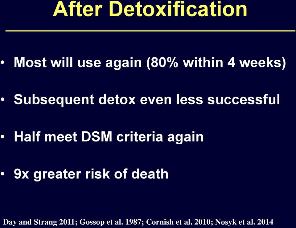 criteria again 9x greater risk of death Day and Strang