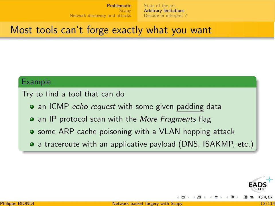 Network packet forgery with Scapy - PDF