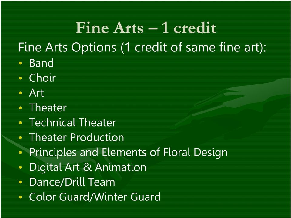 Theater Production Principles and Elements of Floral