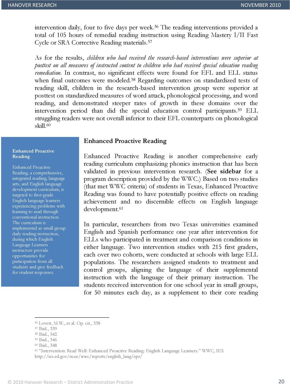 What Are Criteria For Remedial Reading >> Literacy Interventions For Special Student Populations Pdf