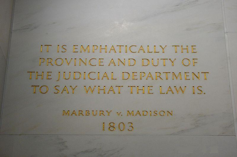 jurisdiction to decide Marbury s case In  Madison, three principles of judicial review were established 1.