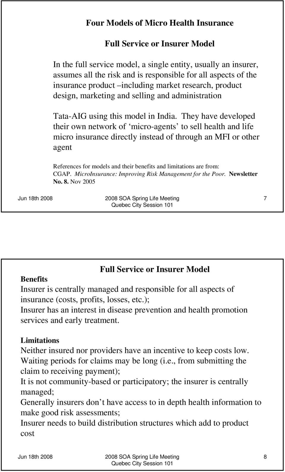 role of actuaries in insurance pdf