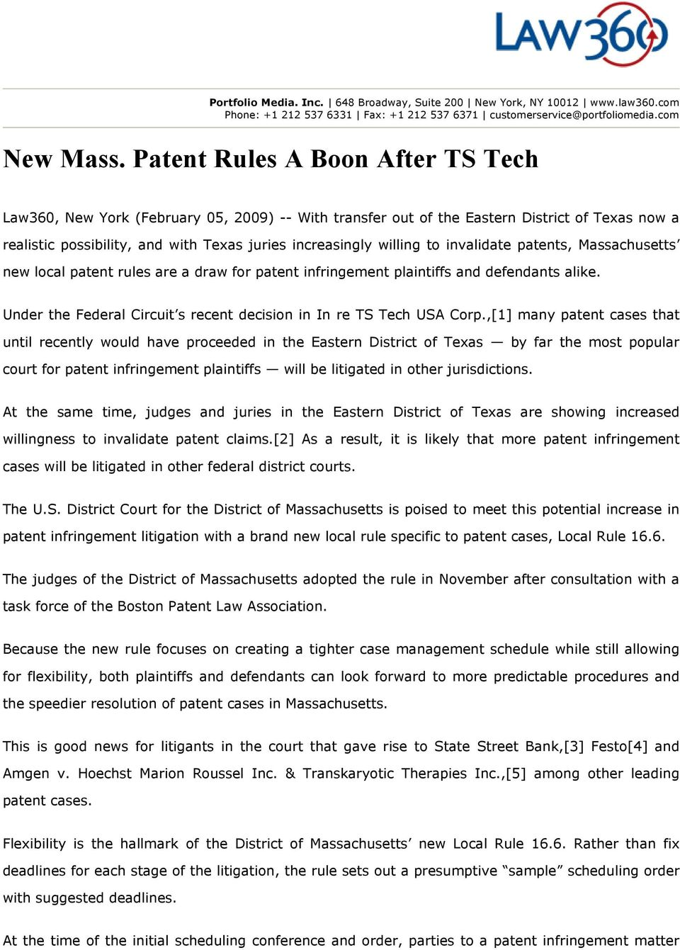 New Mass  Patent Rules A Boon After TS Tech - PDF
