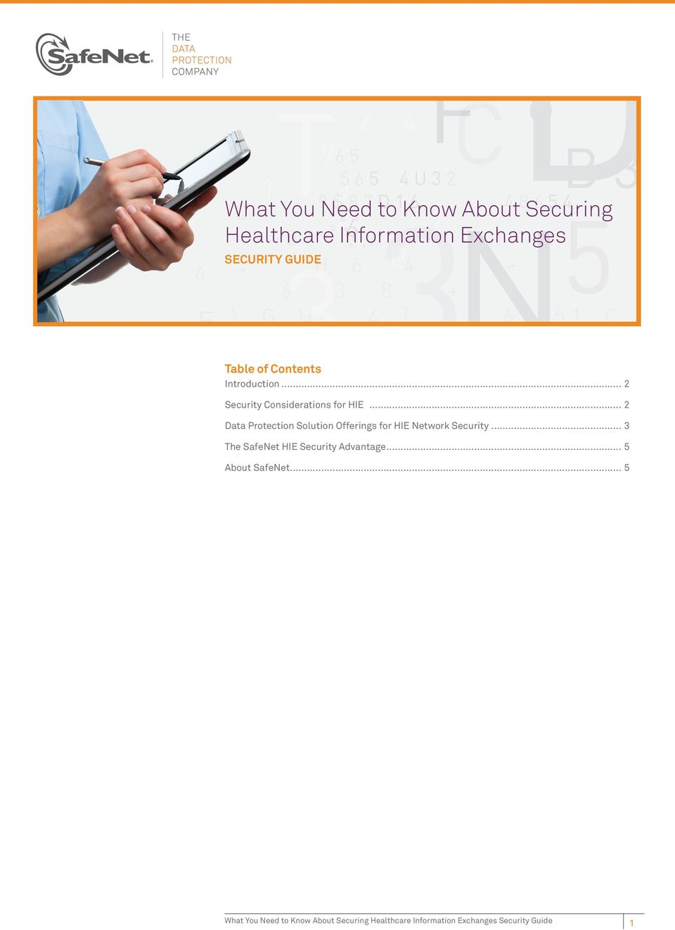 .. 2 Data Protection Solution Offerings for HIE Network Security.