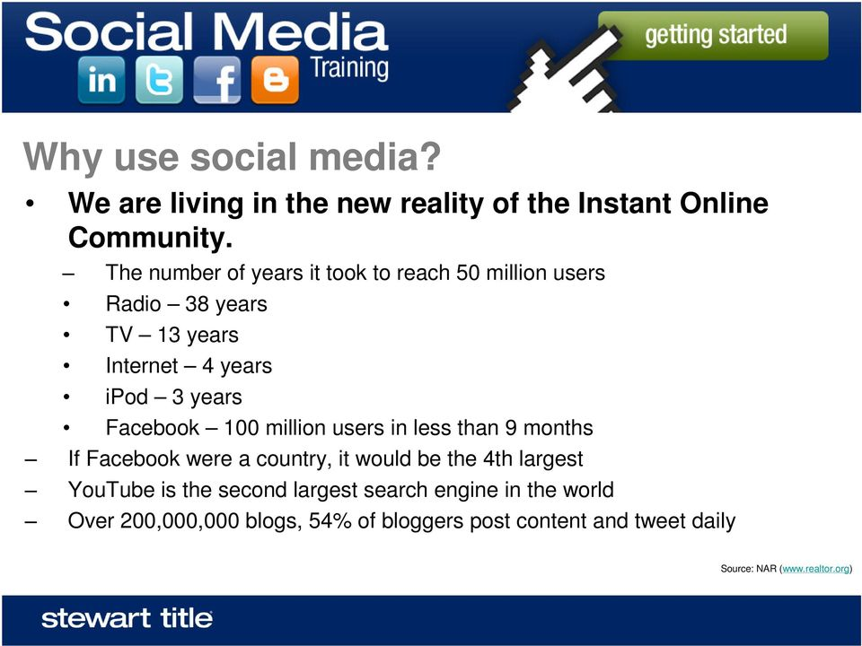 Facebook 100 million users in less than 9 months If Facebook were a country, it would be the 4th largest YouTube