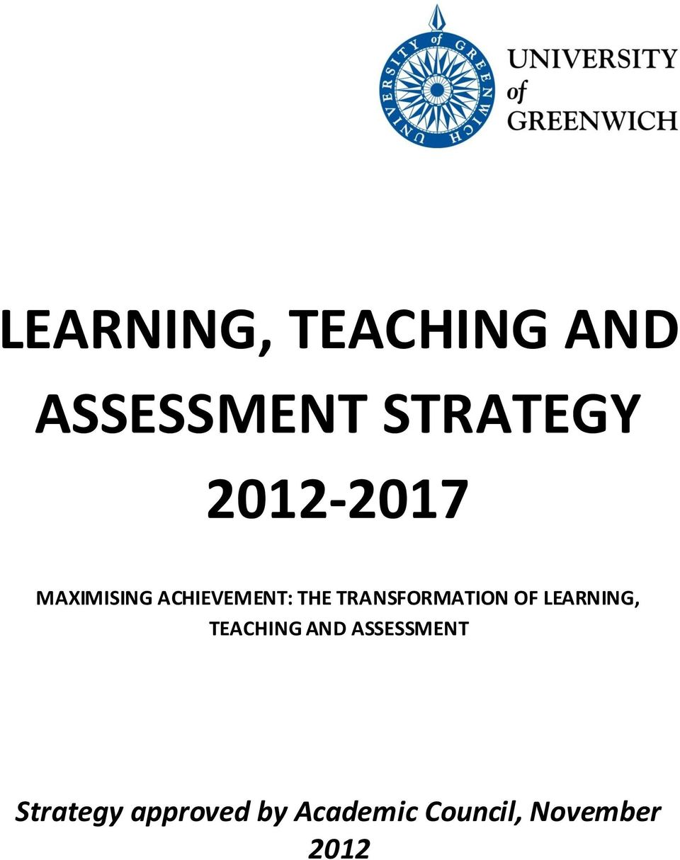 TRANSFORMATION OF LEARNING, TEACHING AND