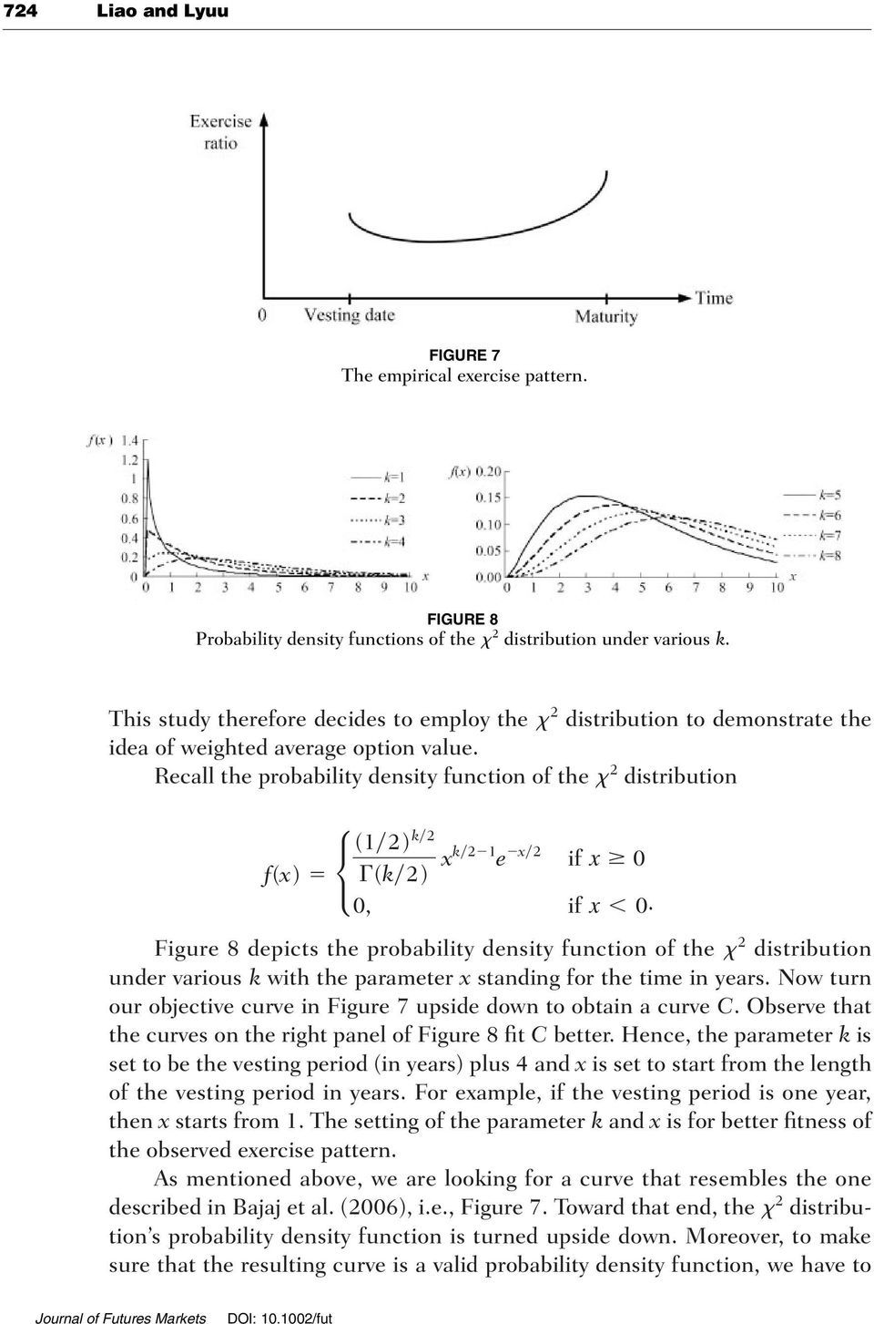 Recall the probability density function of the x 2 distribution (1 2) k 2 f(x) (k 2) xk 2 1 e x 2 if x 0 0, if x 0.