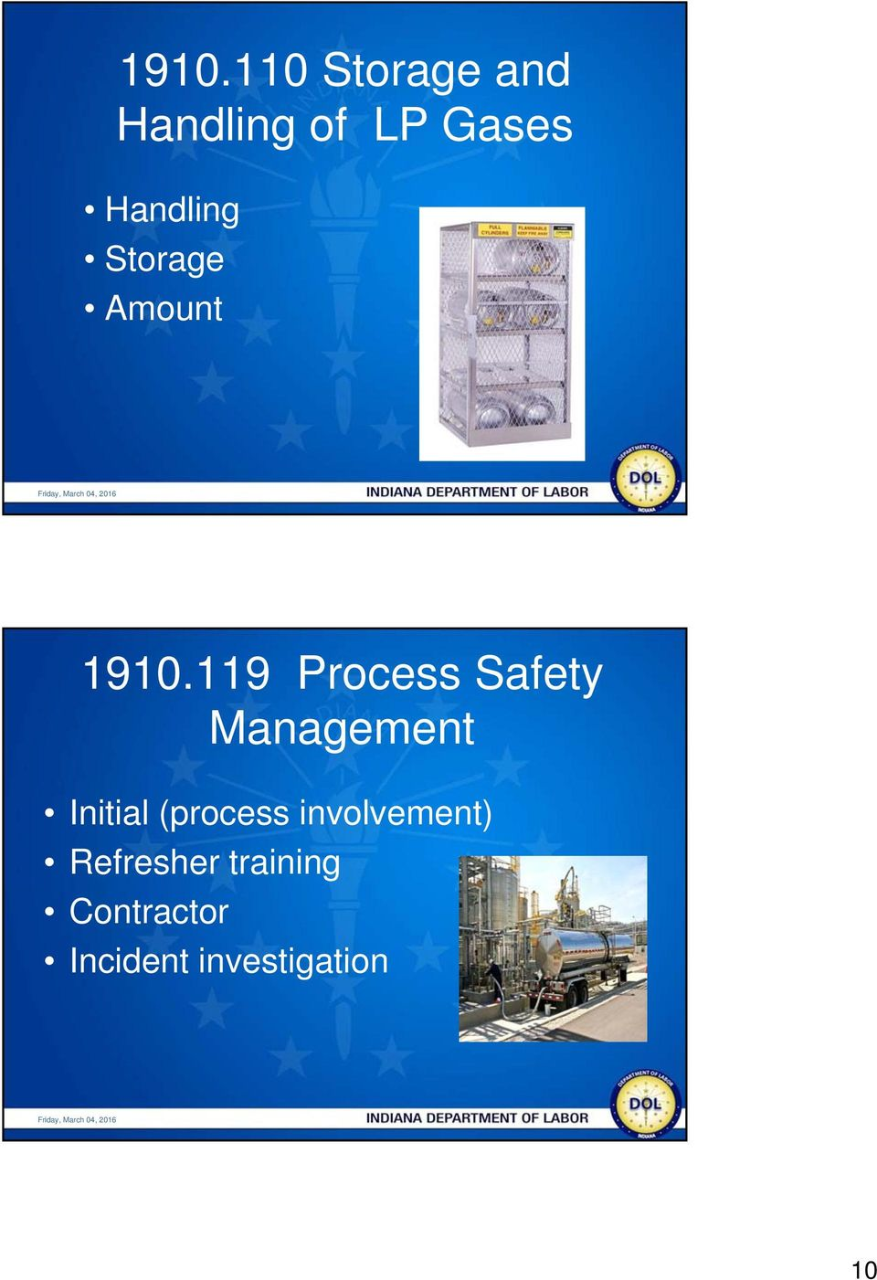 119 Process Safety Management Initial (process