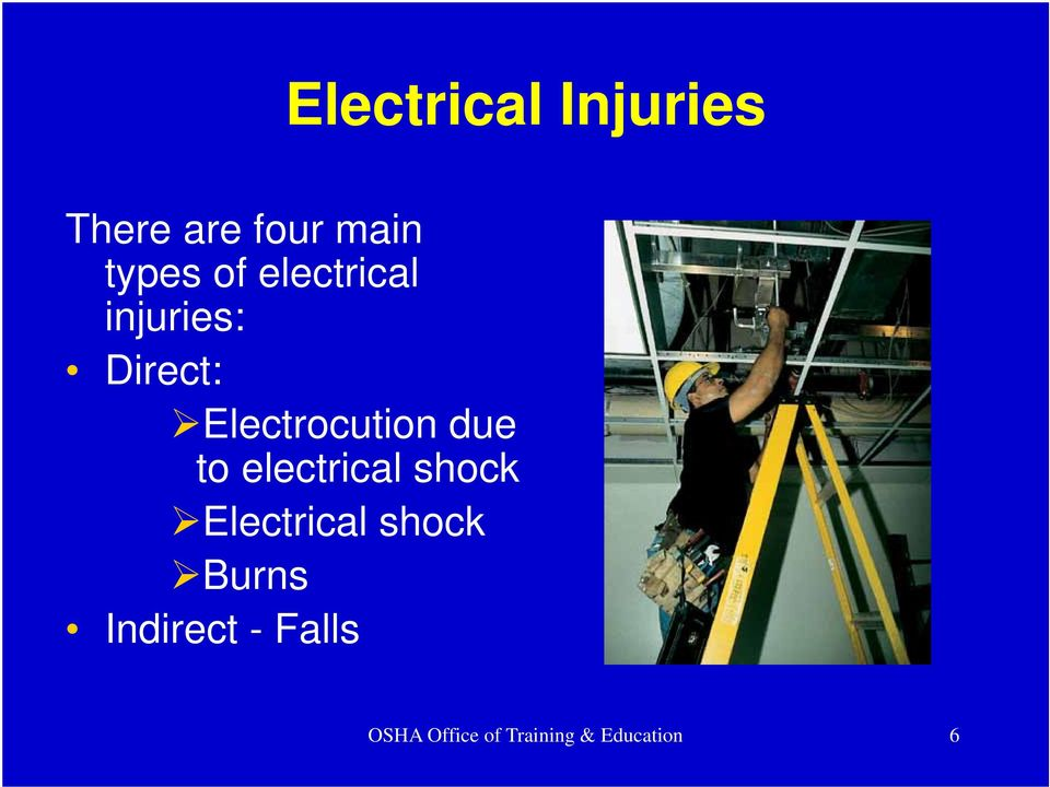 to electrical shock Electrical shock Burns