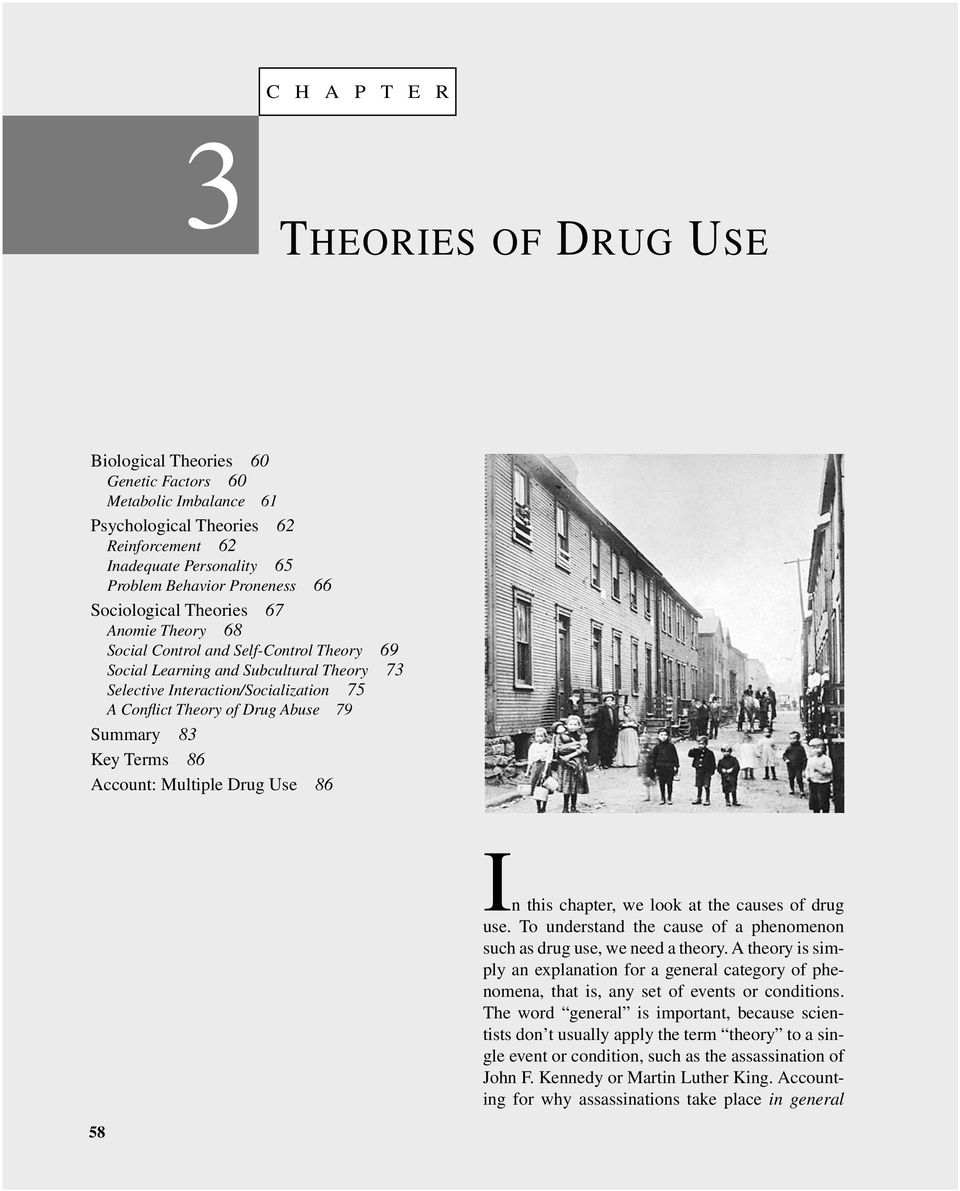 drug abuse and sociological perspective conflict Review of existing drug abuse treatment programs and efforts at theory development suggest that symbolic interactionism is a theoretical perspective which can be employed to explain the etiology of drug abuse and addiction.