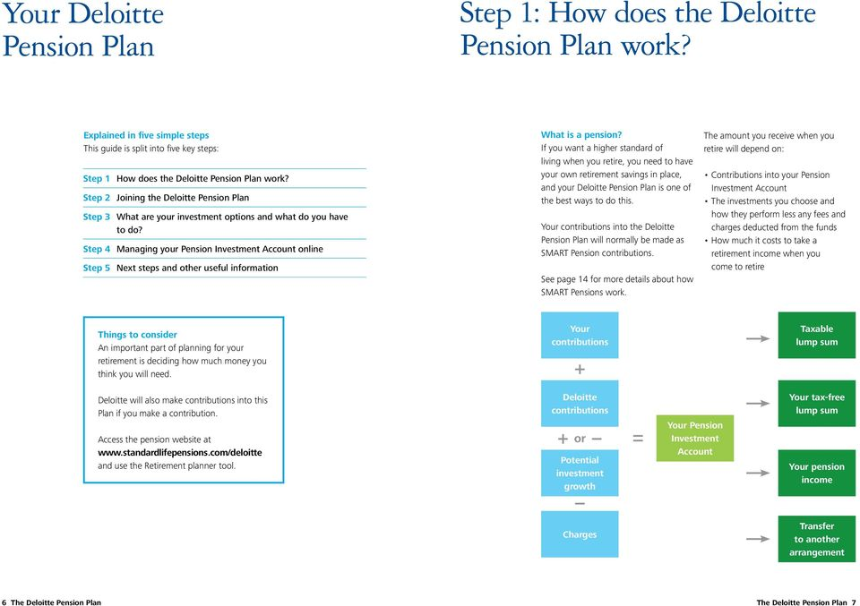 Step 4 Managing your Pension Investment Account online Step 5 Next steps and other useful information What is a pension?