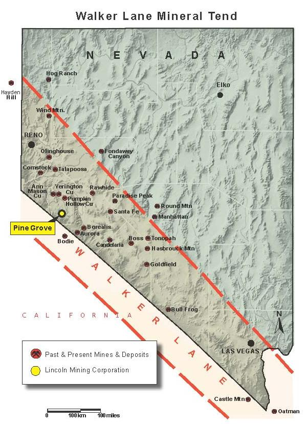 Pine Grove Project Highlights Development stage project on Walker Lane Mineral Trend, NV Property has a full NI 43-101 technical report Planned open-pit gold