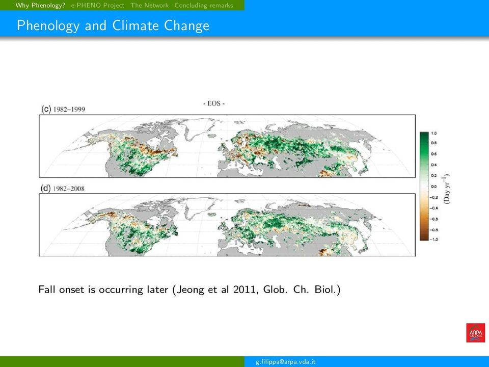 remarks Phenology and Climate Change