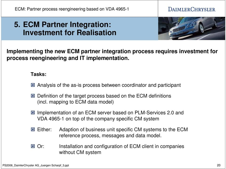 mapping to ECM data model) Implementation of an ECM server based on PLM-Services 2.