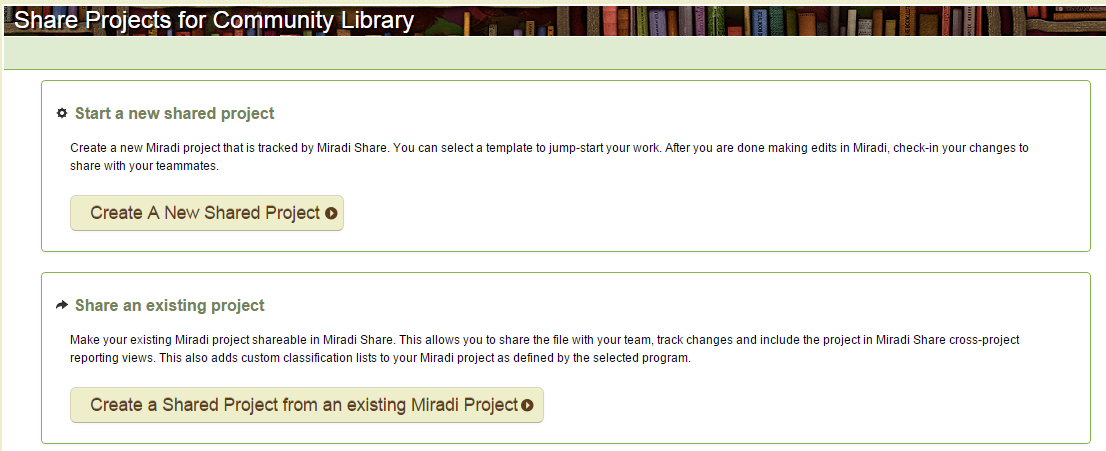 4. Load a Miradi project to Miradi Share (5 mins) Try loading one of your Miradi projects.