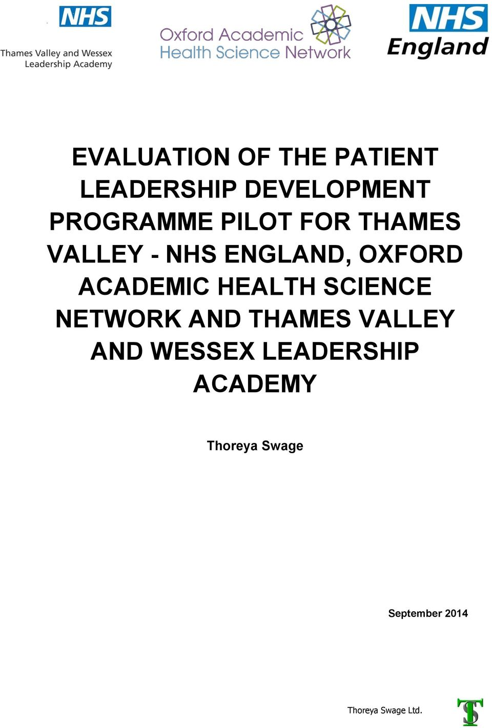 OXFORD ACADEMIC HEALTH SCIENCE NETWORK AND THAMES