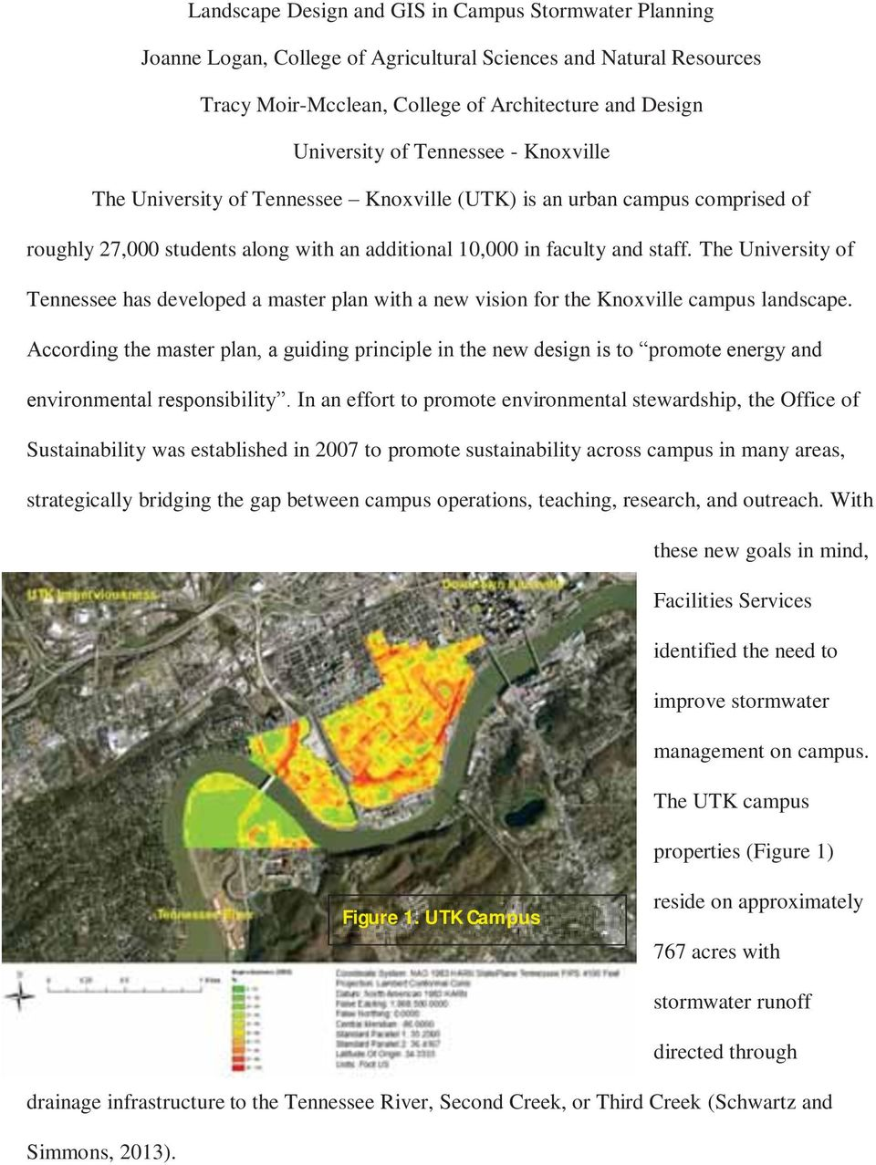 The University of Tennessee has developed a master plan with a new vision for the Knoxville campus landscape.