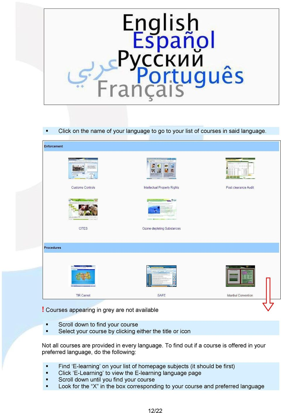 courses are provided in every language.