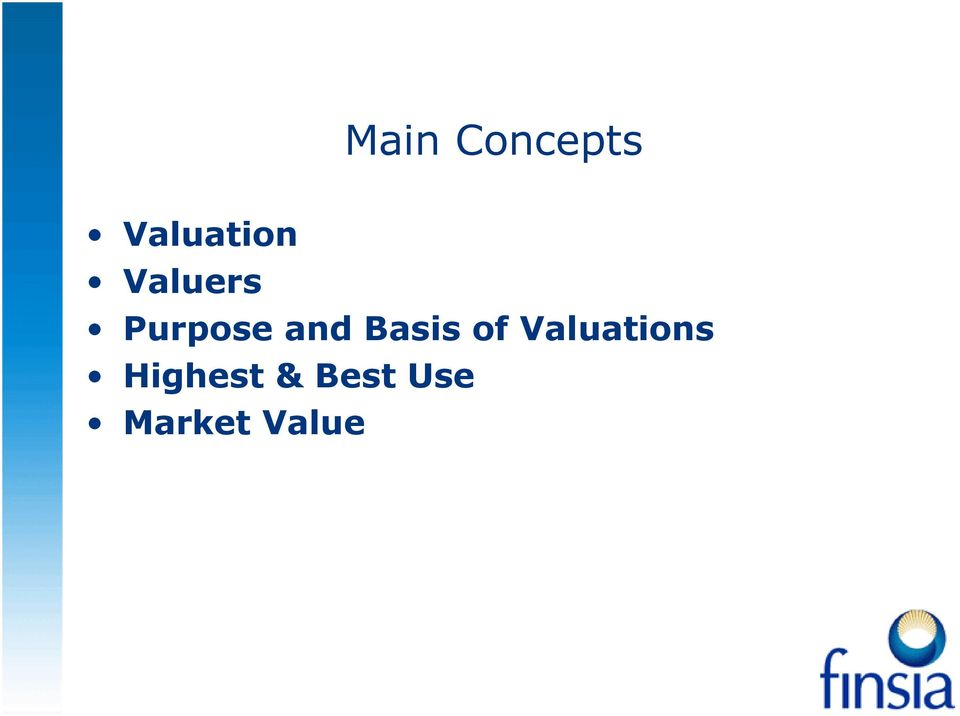 Basis of Valuations