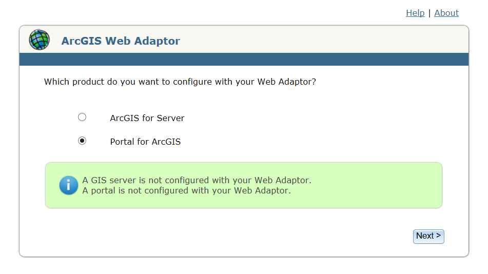 Installing Portal for ArcGIS Can be scripted for silent installs Simple 4 steps workflow 1.