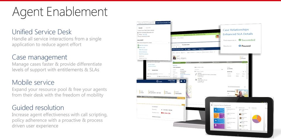 Mobile service Expand your resource pool & free your agents from their desk with the freedom of mobility Guided