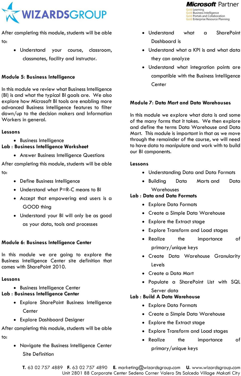Business Intelligence Lab : Business Intelligence Worksheet Answer Business Intelligence Questions Define Business Intelligence Understand what P=R-C means to BI Accept that empowering end users is a