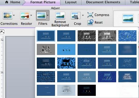 [Nt fr Circulatin] Template gallery in Micrsft PwerPint 2011: Anther new feature included in Micrsft Office 2011 is the enhanced ability fr users t edit pictures in Wrd, PwerPint, and Excel.