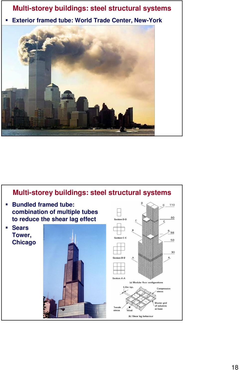 buildings: steel structural systems Bundled framed tube: