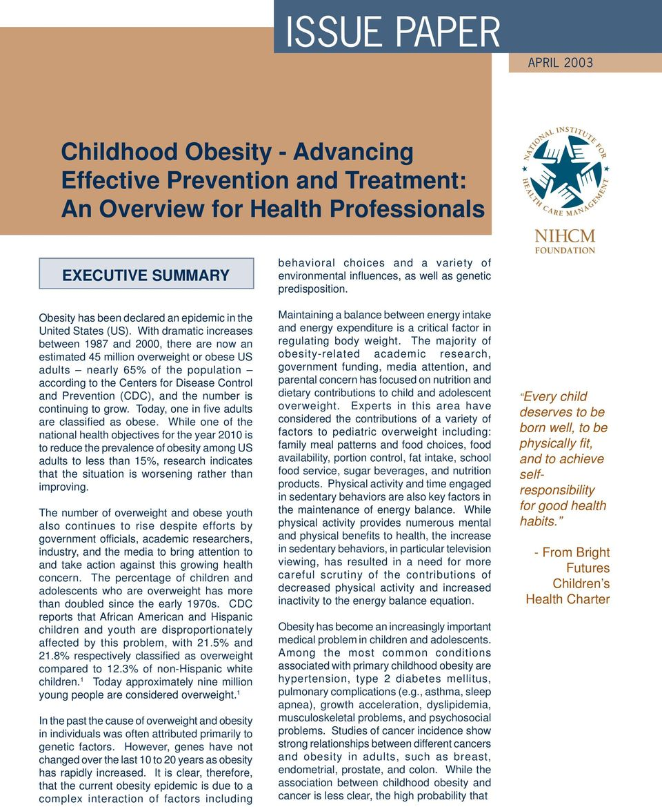 obesity amongst mexican children essay Factors contributing to obesity some children have medical conditions associated with obesity and/or require pharmacologic treatments resulting in significant weight gain.