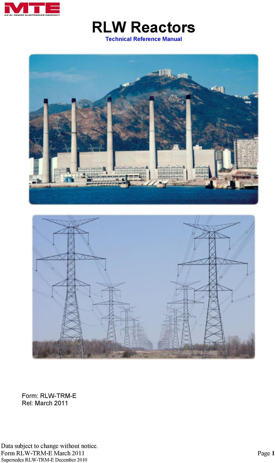 RLW Reactors Technical Reference Manual - PDF
