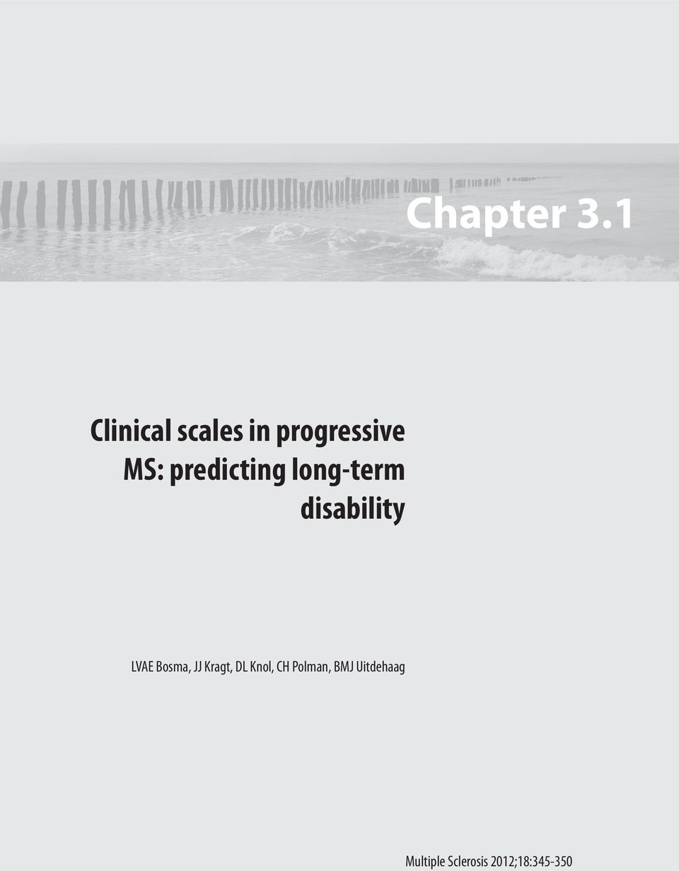predicting long-term disability LVAE Bosma,