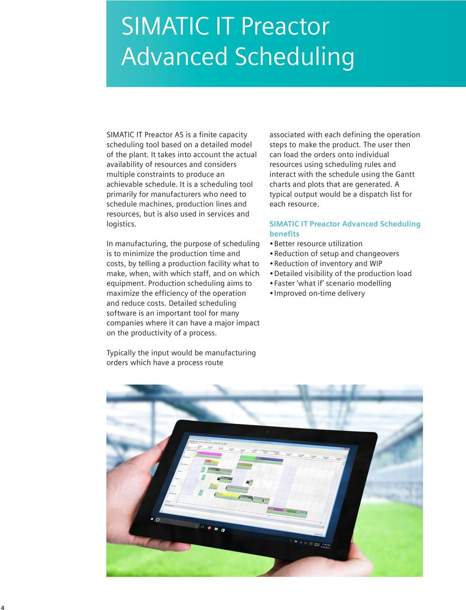 Siemens Plm Software Simatic It Preactor Aps Advanced