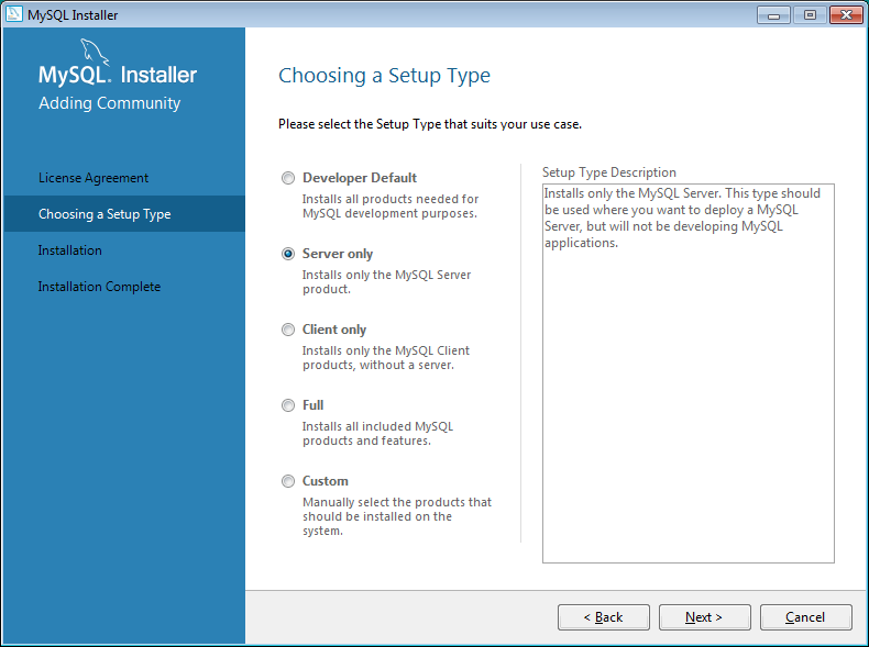 7. Click Close to finish the Java installation. 8. The VSkyView installer starts the Oracle MySQL installation.