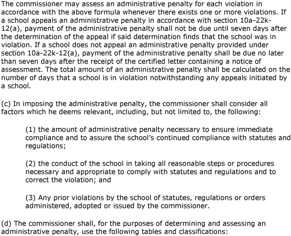 if said determination finds that the school was in violation.