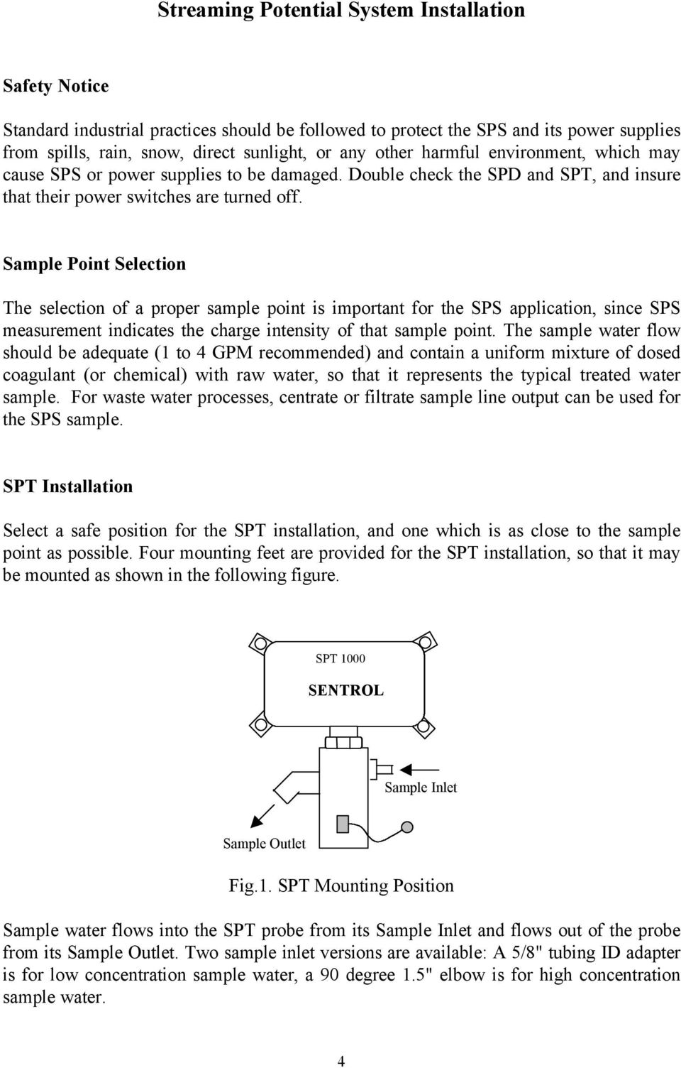 Sample Point Selection The selection of a proper sample point is important for the SPS application, since SPS measurement indicates the charge intensity of that sample point.