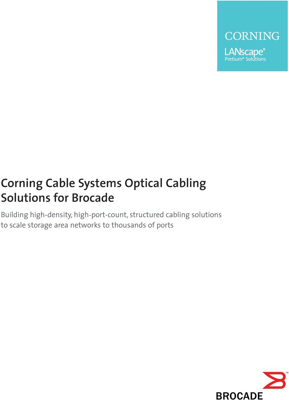 high-port-count, structured cabling solutions